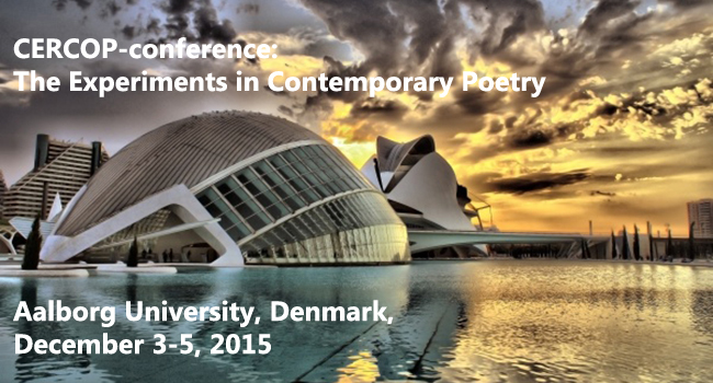 Invitation and call for papers to conference on The Experience in Contemporary Poetry